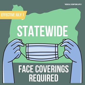 Face masks required in Oregon