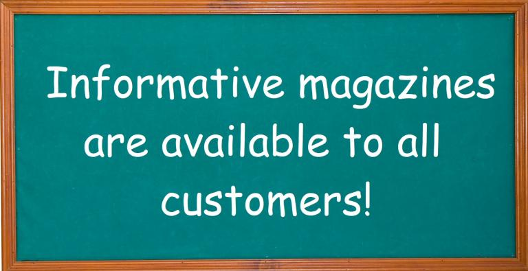 informative magazines available